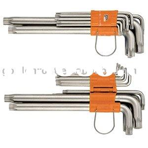 10pcs Long Tamper Proof Star Key Wrench Set / 11pcs Long Star Key Wrench Set, Hex Key Wrench Set, He