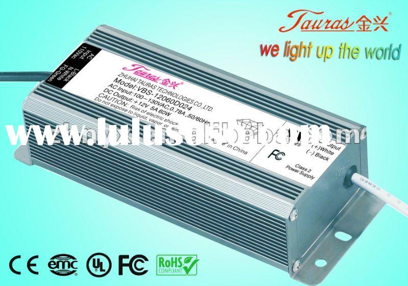 12V 60W led driver Constant Voltage High reliability UL CE ROHS FCC Certificate led switching power