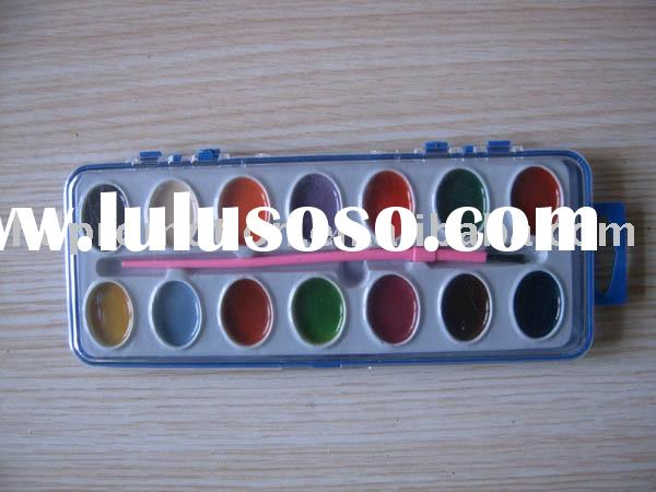 14pcs Water Color Cake Paint Set