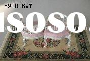 1/6 scale love-sofa upholstered pink leather Y9002BWT