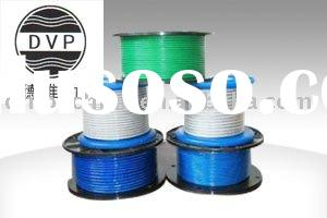 1x7,1x19,6x7,7x7,6x19,7x19 Nylon covered galvanized steel wire rope