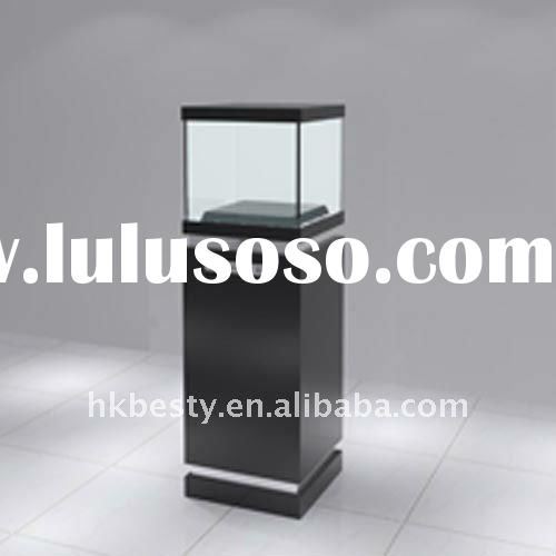 2011 new design famous watch shop display tower case with LED lights
