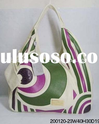 2012 New fashion printed leather hobo bags
