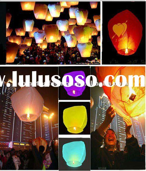 2012 Still HOT Handmade Paper Fly Lantern for Christmas and New Year