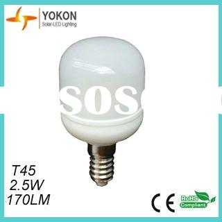 2.5W e14 led light bulbs, T45 e14 led light bulbs