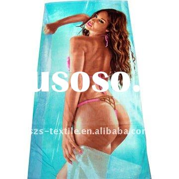 "30""X60"" 10.5 Lbs/Dz Photo Printed Beach Towel"