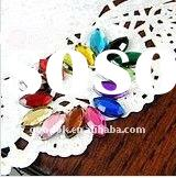 5*10mm flat back acrylic beads,oval resin rhinestone