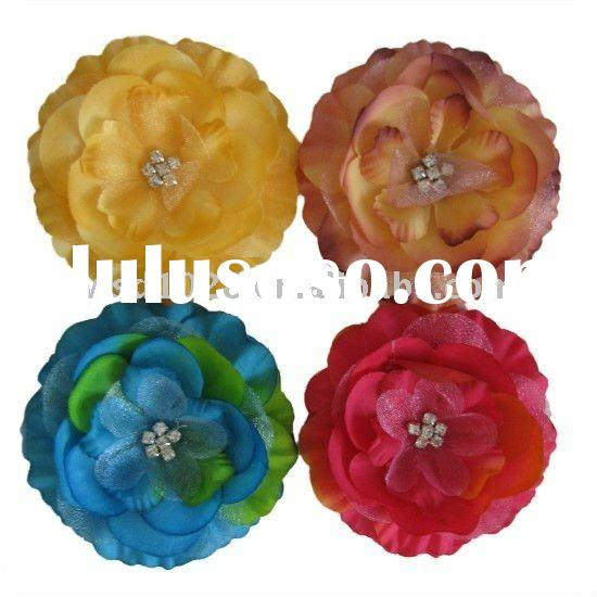 6 rhinestone center flower, crystal center flowers, Jeweled center flower