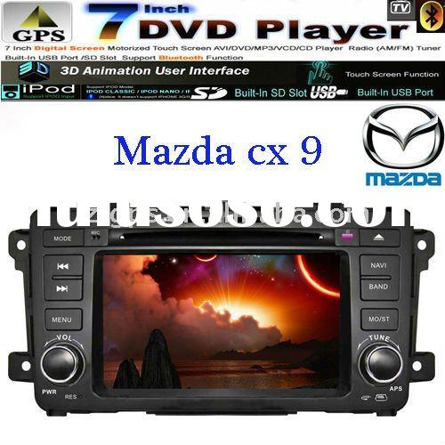7inch touch screen car in dash stereo navigation for mazda cx-9 with ipod bluetooth reverse camera t