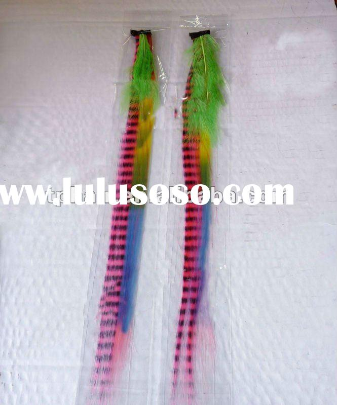 "8""-26""Colourful Clip In Feather Hair Extensions For Black Women"