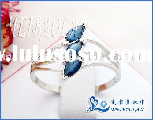 925 STERLING SILVER RING WITH NATURAL SAPPHIRE((j2.50506agl)