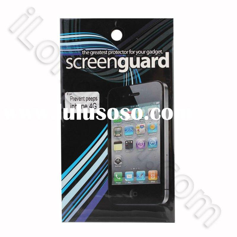 Anti-glare Crystal Scratch Resistant Screen Guard Protector Film LCD Shield With Lint Cleaning Cloth