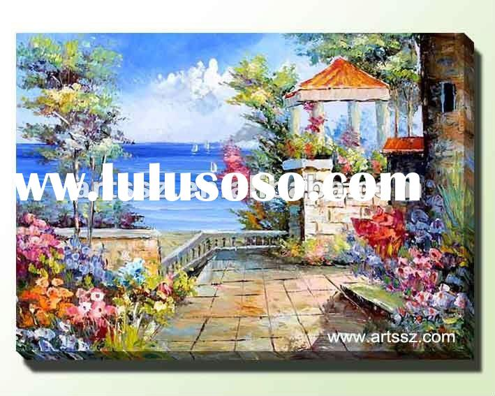 Beautiful Mediterranean Landscape Oil Painting