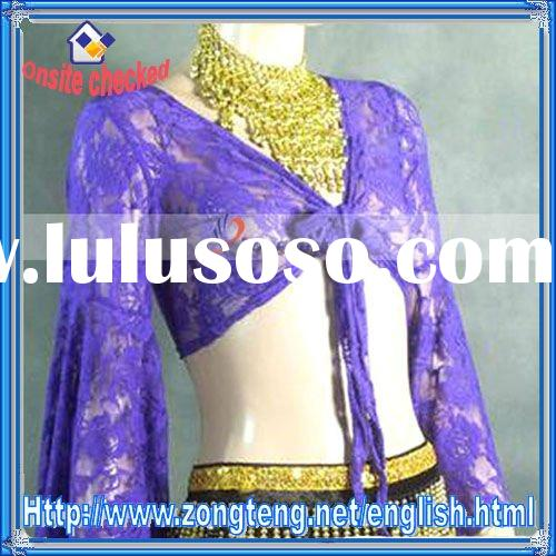 Belly Dance Costume Lace Top Deep purple