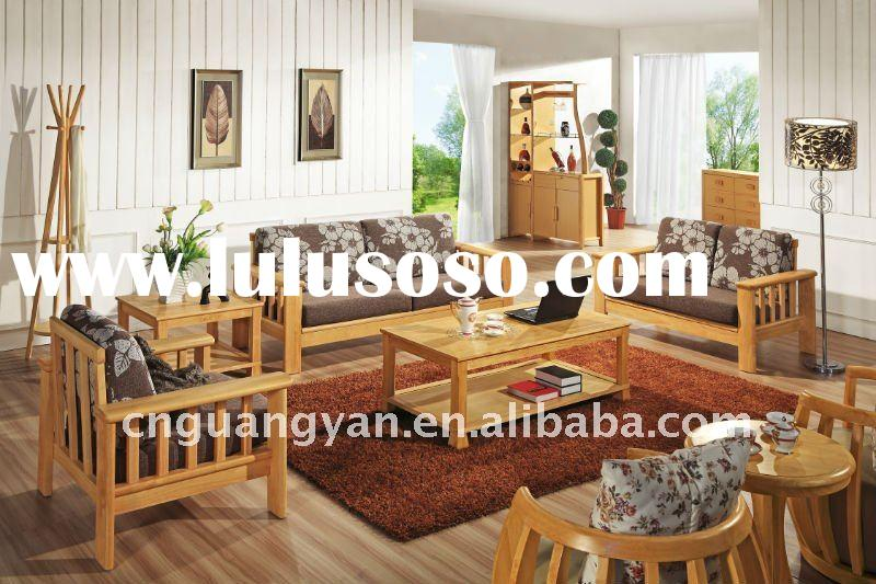 Coffee, Fabric Sofa, Living Room Furniture Set, wooden sofa set 2311