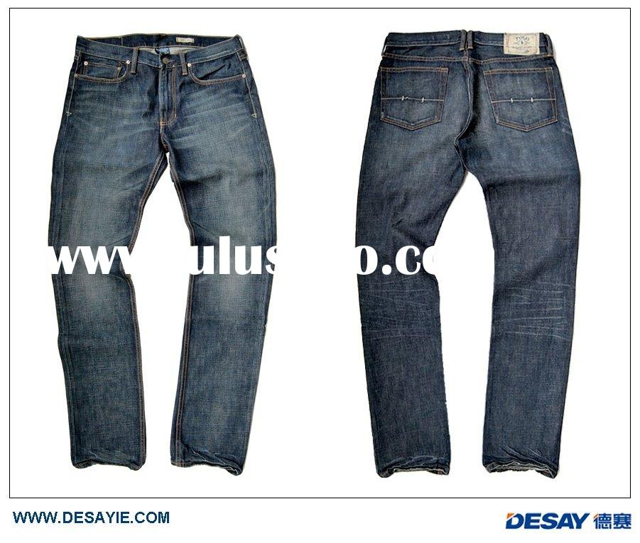 DSM034 2011 men's fashion design washed denim jeans