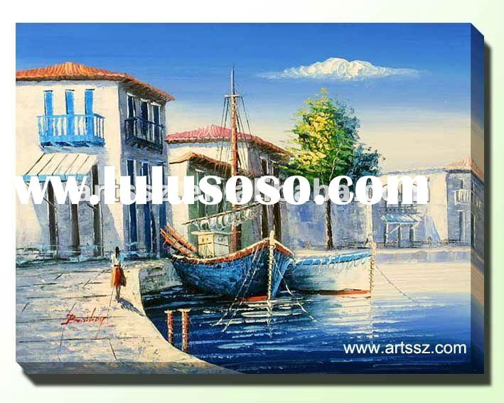 Delicate Mediterranean Landscape Oil Painting In High Quality