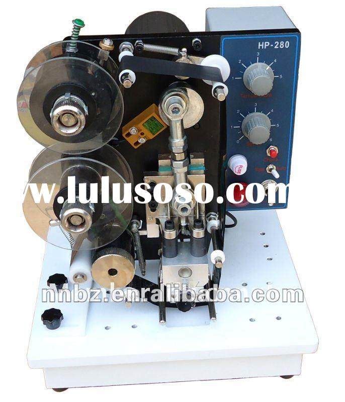 Electric hot stamp tape coding machine for date printing