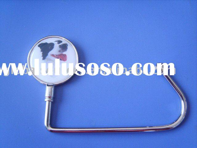 Epoxy Dog Logo Purse Hanger Bag Hook