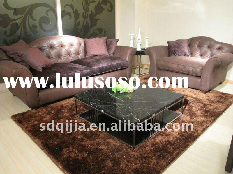 European Style Living Room Genuine Leather Classical Furniture Sofa
