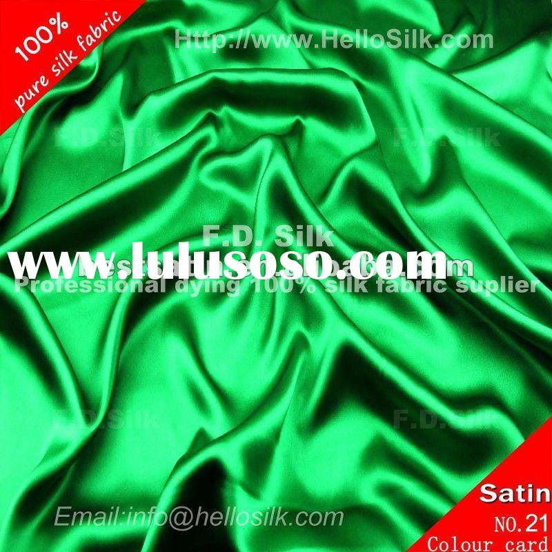 F.D.Dyed raw silk fabric for sale