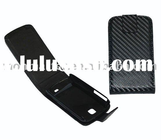 For Samsung Galaxy Mini S5570 Carbon Fiber leather case