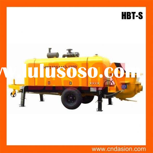 HBT-S-valve series Trailer Concrete Pump with PLC Control for sale in stock
