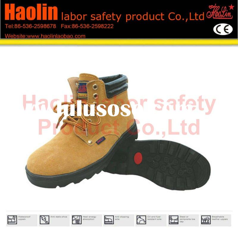 HL-A038 brand black steel safety shoes