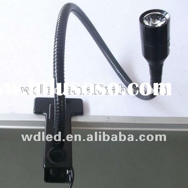 High Power White Color LED table Light Clips reading lights with flexible tube desk bed lighting