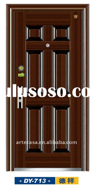 High quality and Export Standard Elegent Style (DY-713) New Security Commercial Steel Doors Exterior