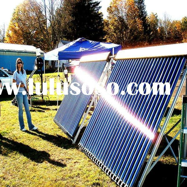 Homemade Heat Pipe Pressurized Passive Solar Powered Water Heater Portable