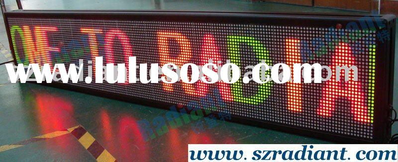 Indoor advertising LED moving message board, led scrolling sign