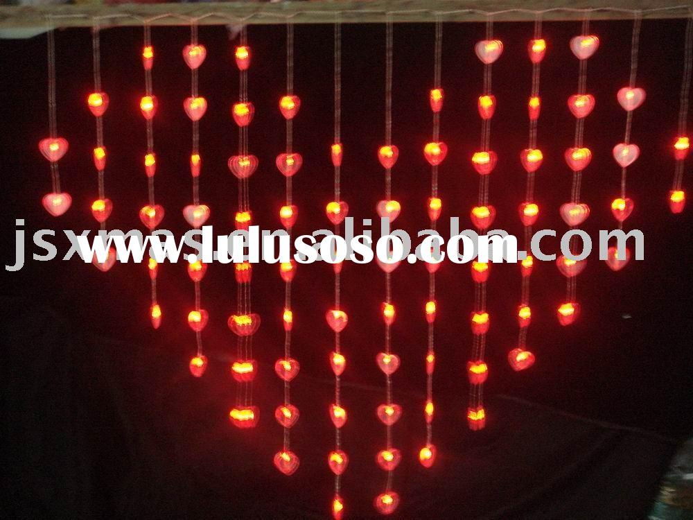 Led wedding and valentine's day decorative lights with heart shape decoration(heart-shaped i