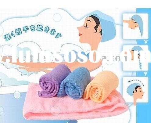 Magic Microfiber Hair-drying Towel Cap Bath Head Wrap