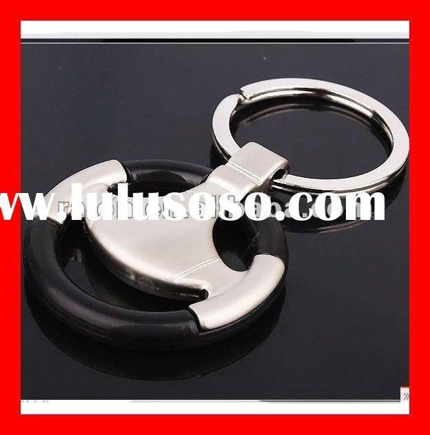 Metal Auto Car Steer Wheel Keychain,Souvenir Promotional Gift Keyring,Commercial Trade Giveaway Pres