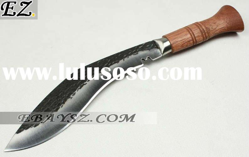 New Arrival Nepalese Black Hand Made Dogleg Scimitar Knife Fixed Blade Knife Freeshiping DZ-0588