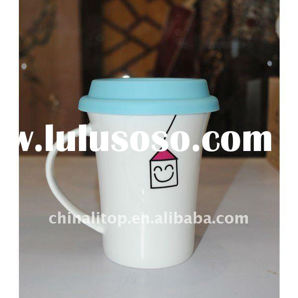 "New Custom Face Mugs Travel Mugs Coffee Cups Thermal Cups Lovers Mugs Set with Silicone Lid ""I"