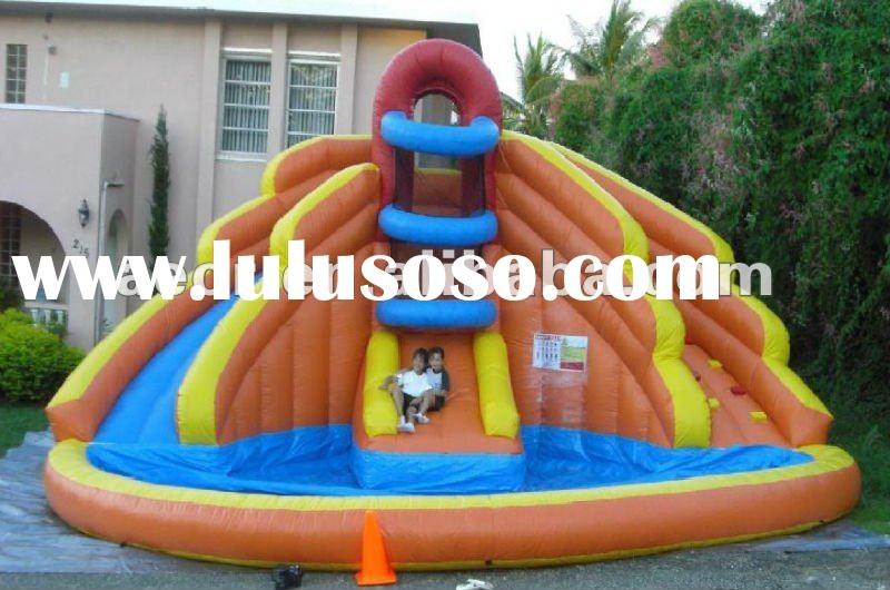 New & Hot Inflatable water slide with pool for summer/double lines slide