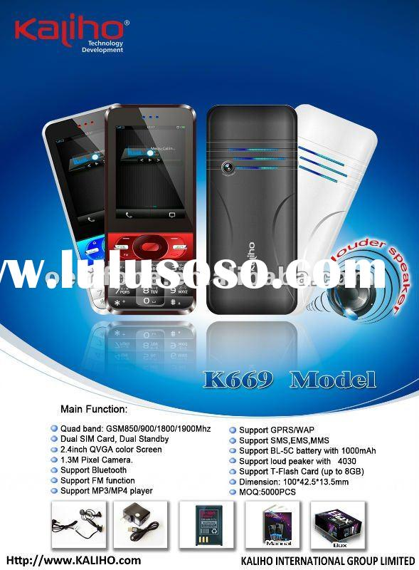 New model Low end dual sim big speaker with java mobile phone