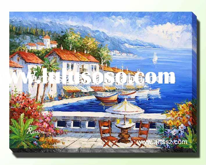 Nice Mediterranean Landscape Oil Painting In High Quality