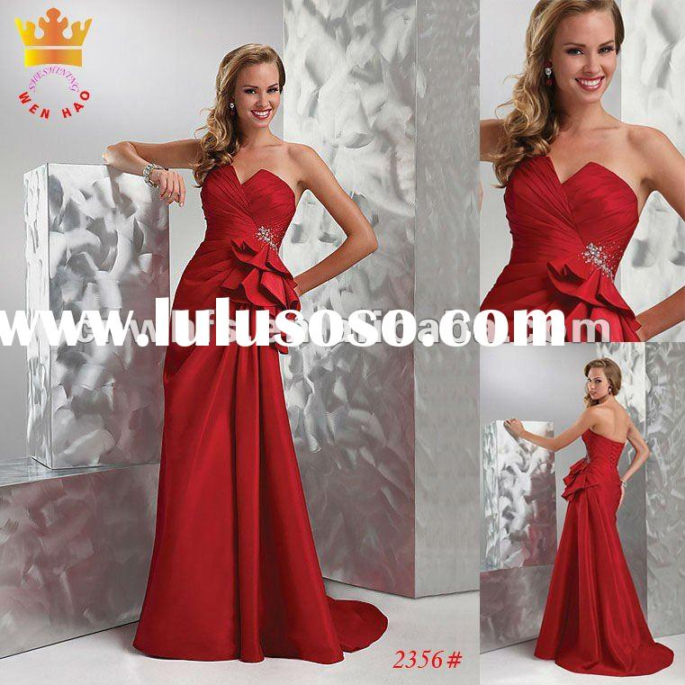 Off Shoulder Corset Red Prom Dress 2368#