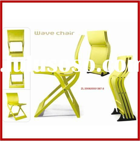 Outdoor Furniture Folding Plastic Wave Chair
