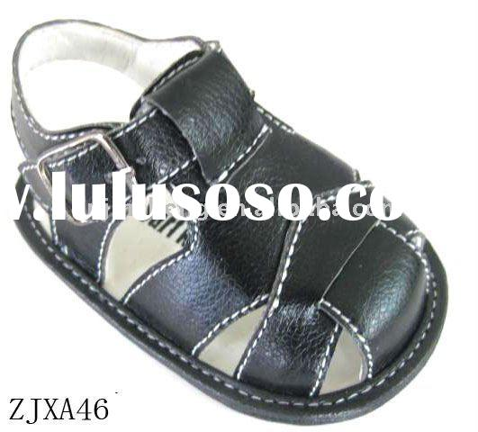 PU leather fabrics fashion beautiful baby shoes sandals babies shoes to prevent slippery