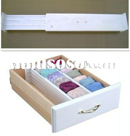 Plastic adjustable drawer organizer,drawer dividers,drawer seperator