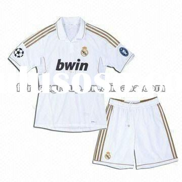 Real Madrid Soccer Jersey Set, Sized S to XXXL, Made of Polyester Material