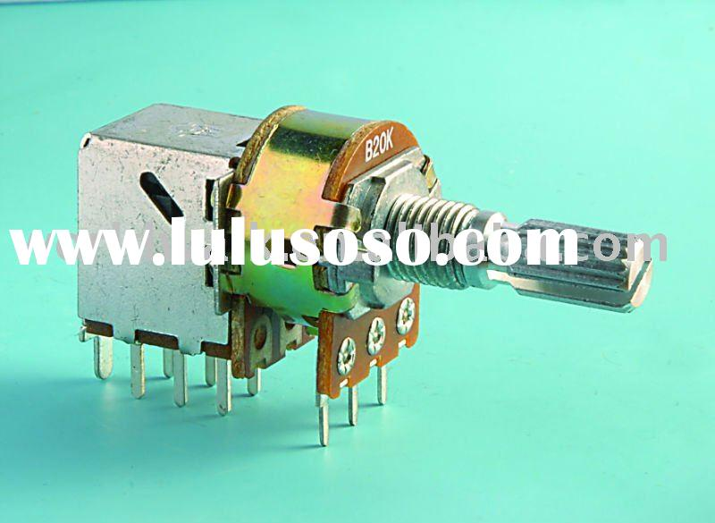 SP-RA16K1 Rotary Potentiometer with Push-Pull Switch