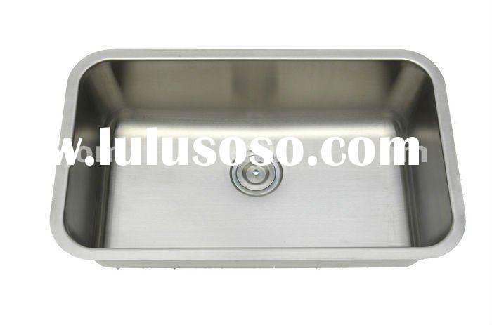 STAINLESS STEEL KITCHEN SINK UNDERMOUNT SINGLE BOWL BAR SINK