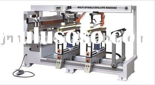 Semi-automatic boring machine with 2 vertical and 1 horizontal boring head