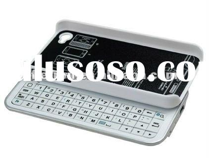 Sliding Bluetooth Wireless Keyboard+Hardshell Case for Apple Iphone 4G 4S 4GS