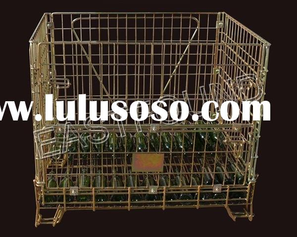 Steel cage for wine bottle storage